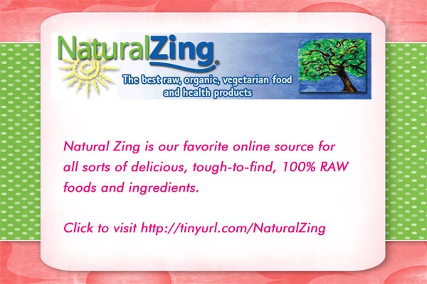 Support Pure Jeevan by shopping for delicious raw food supplies at Natural Zing!! ... and Thank You!! :-)