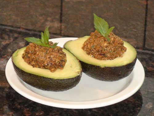 raw food photo: Stuffed Avocados