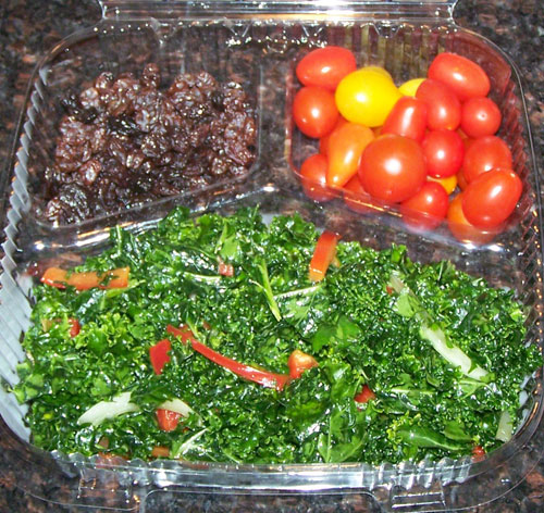 raw food photo: kale salad