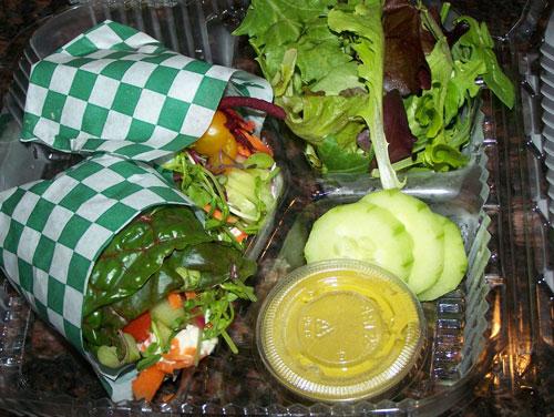 raw food photo: rainbow wraps