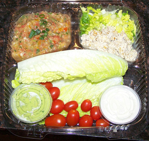 raw food photo: lettuce tacos