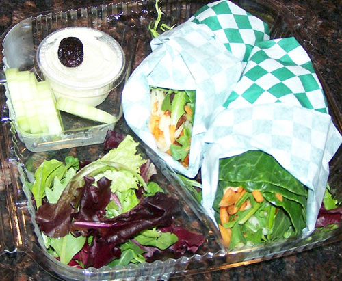 raw food photo: Mediterranean wraps