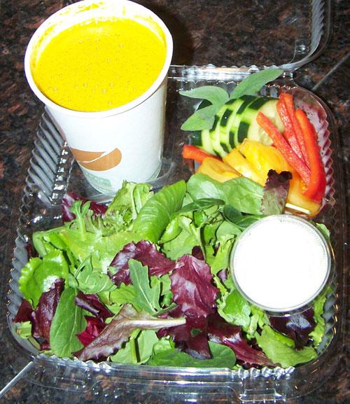 raw food photo: Soup and Salad