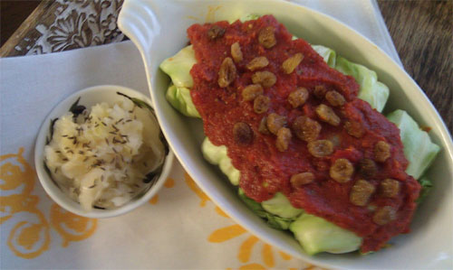 raw food photo: Raw Cabbage Rolls