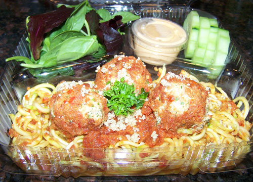 raw food photo: Pasta With Meatballs