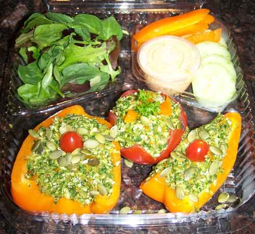 raw food photo: Stuffed Tomato and Peppers