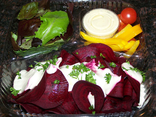 raw food photo: Beet Pasta Alfredo