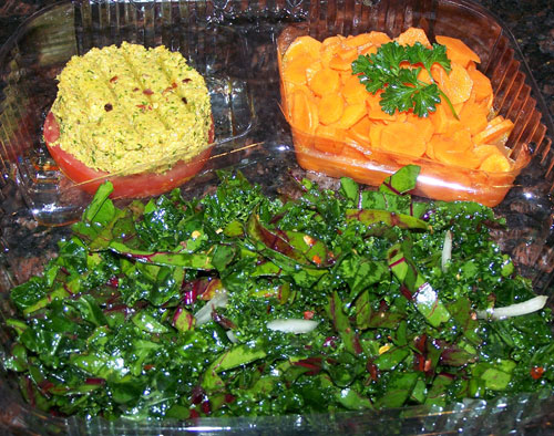raw food photo: Dinner Greens Salad