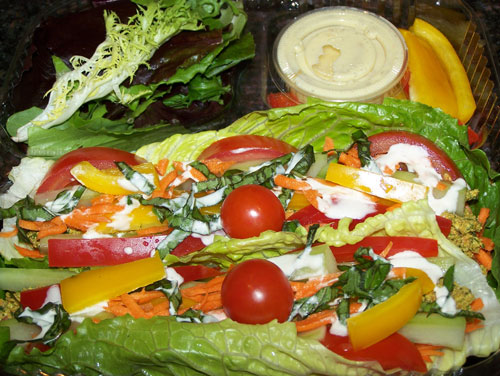 raw food photo: Stuffed Romaine Boats