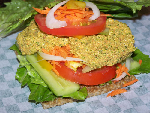 raw food photo: Veggie Patty Sandwich