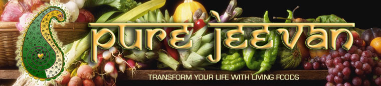 Pure Jeevan Banner -- Transform Your Life with Raw foods / Living Foods !!